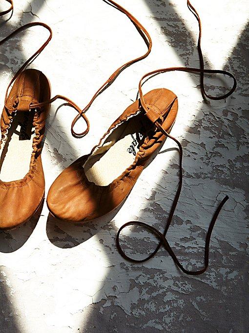 Product Image: Washed Leather Ballet Flat