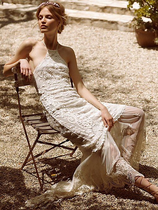 Product Image: Casablanca Lace Halter Gown