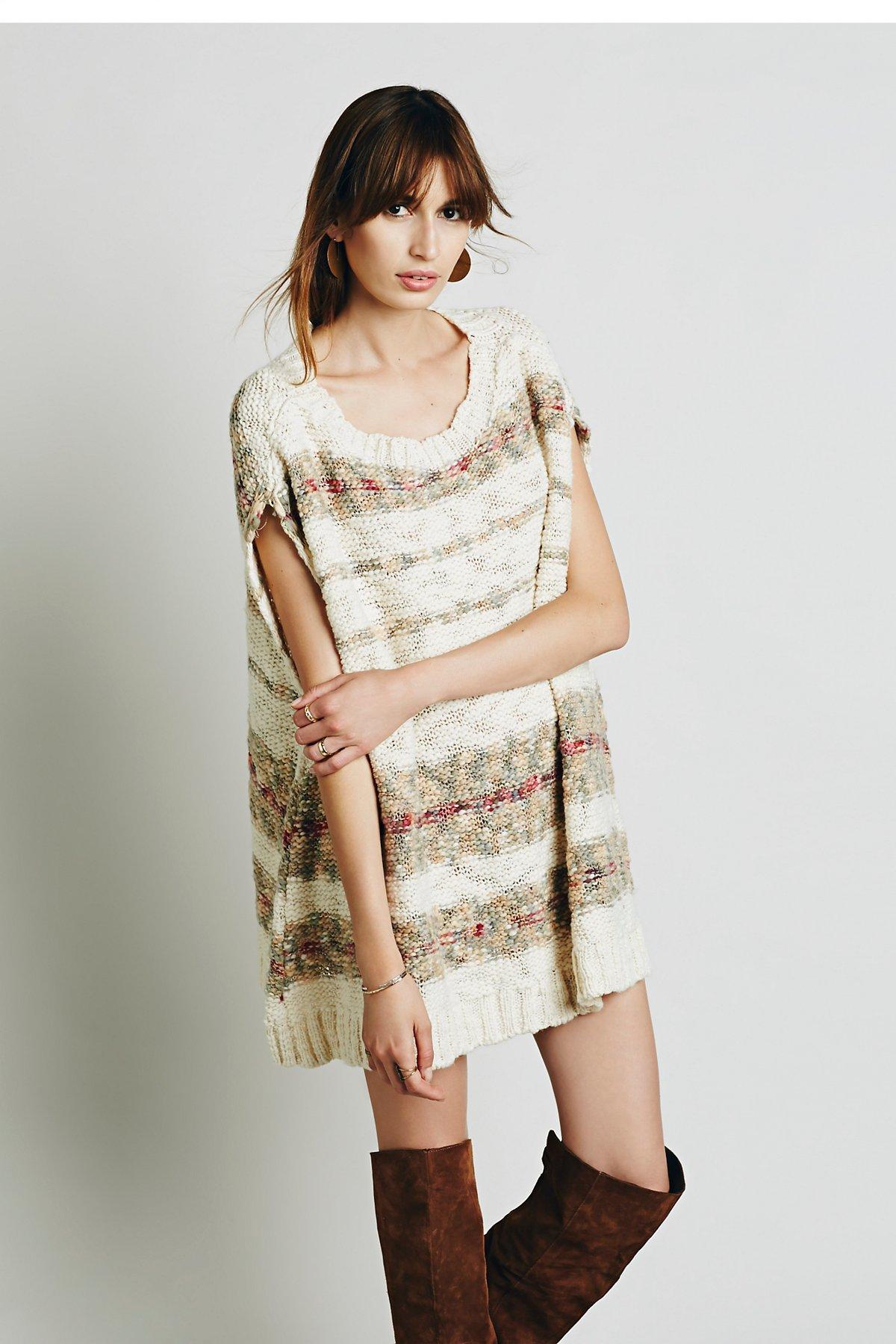 条纹飘逸裙衫