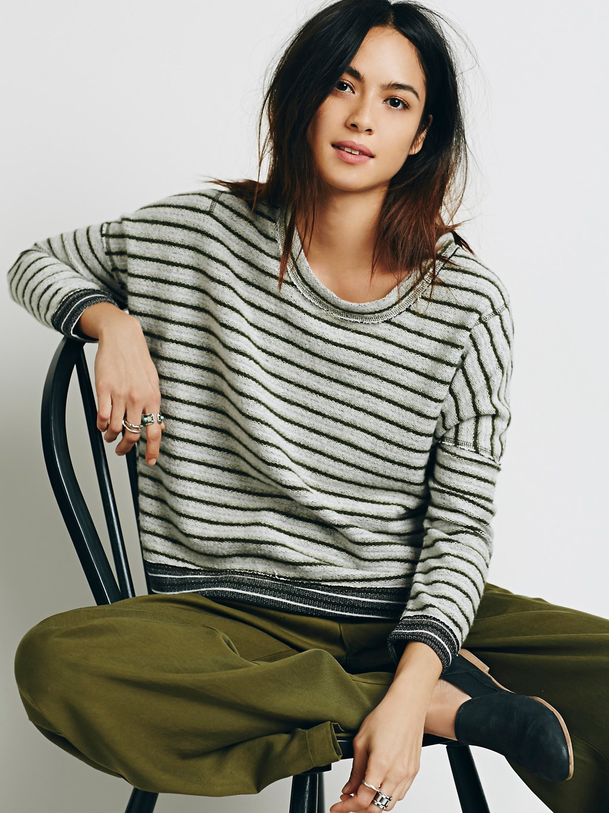 Little Ann Striped Pullover