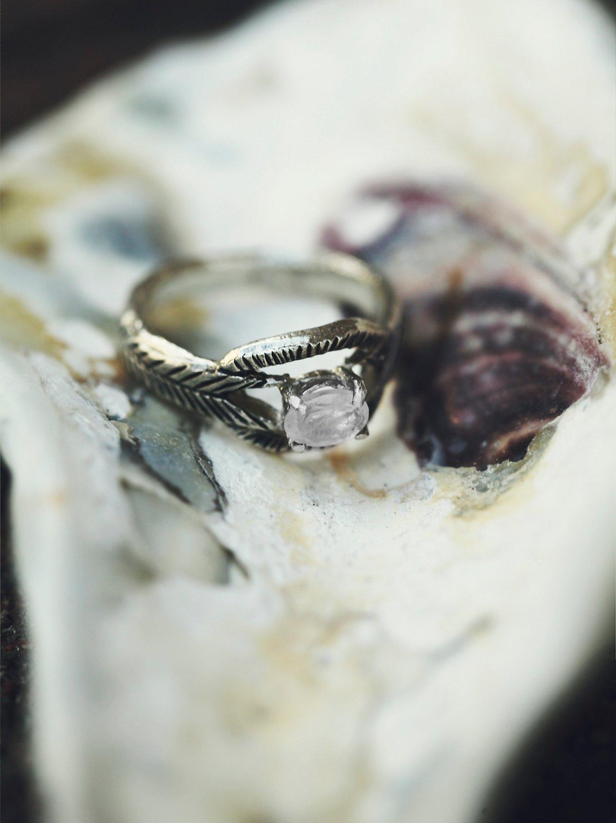 Moonstone Deco Ring