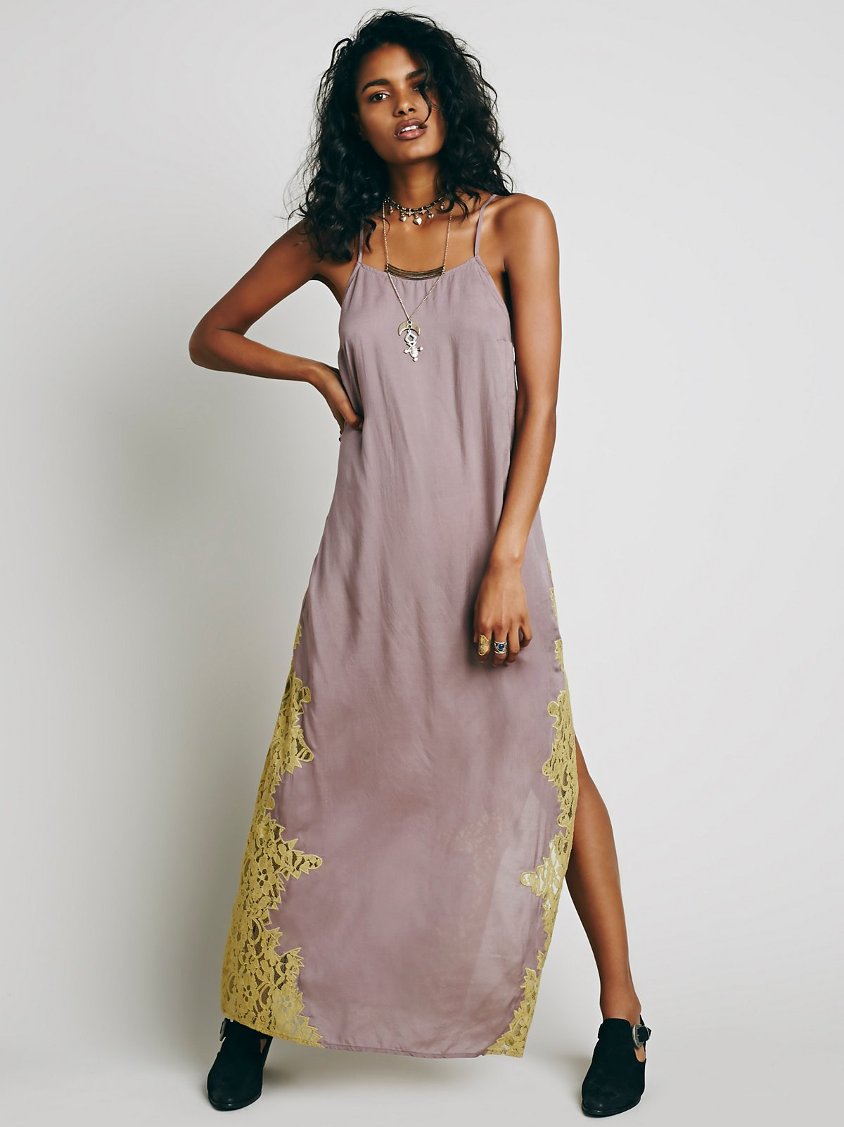 Lace Side Maxi Slip