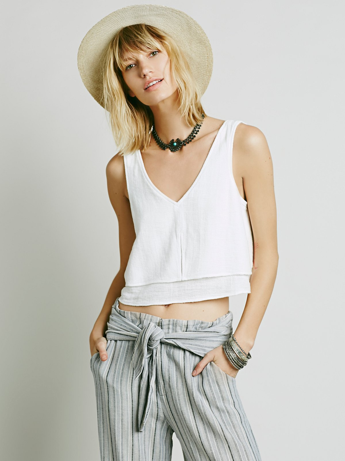 Double Layer Crop Tank