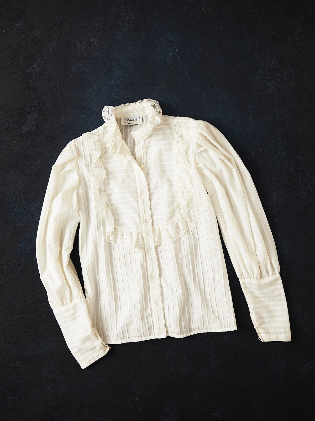 Vintage 1970s Lace Blouse