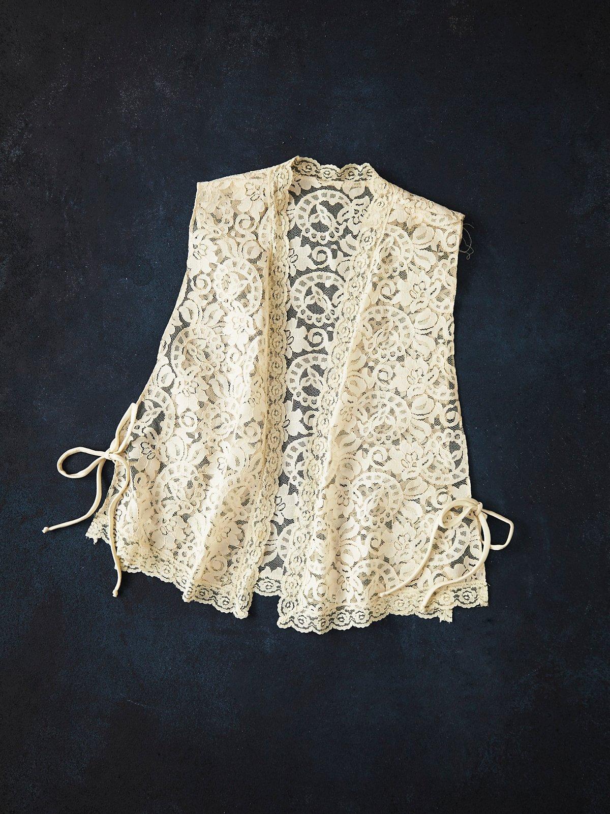Vintage 1980s Lace Vest