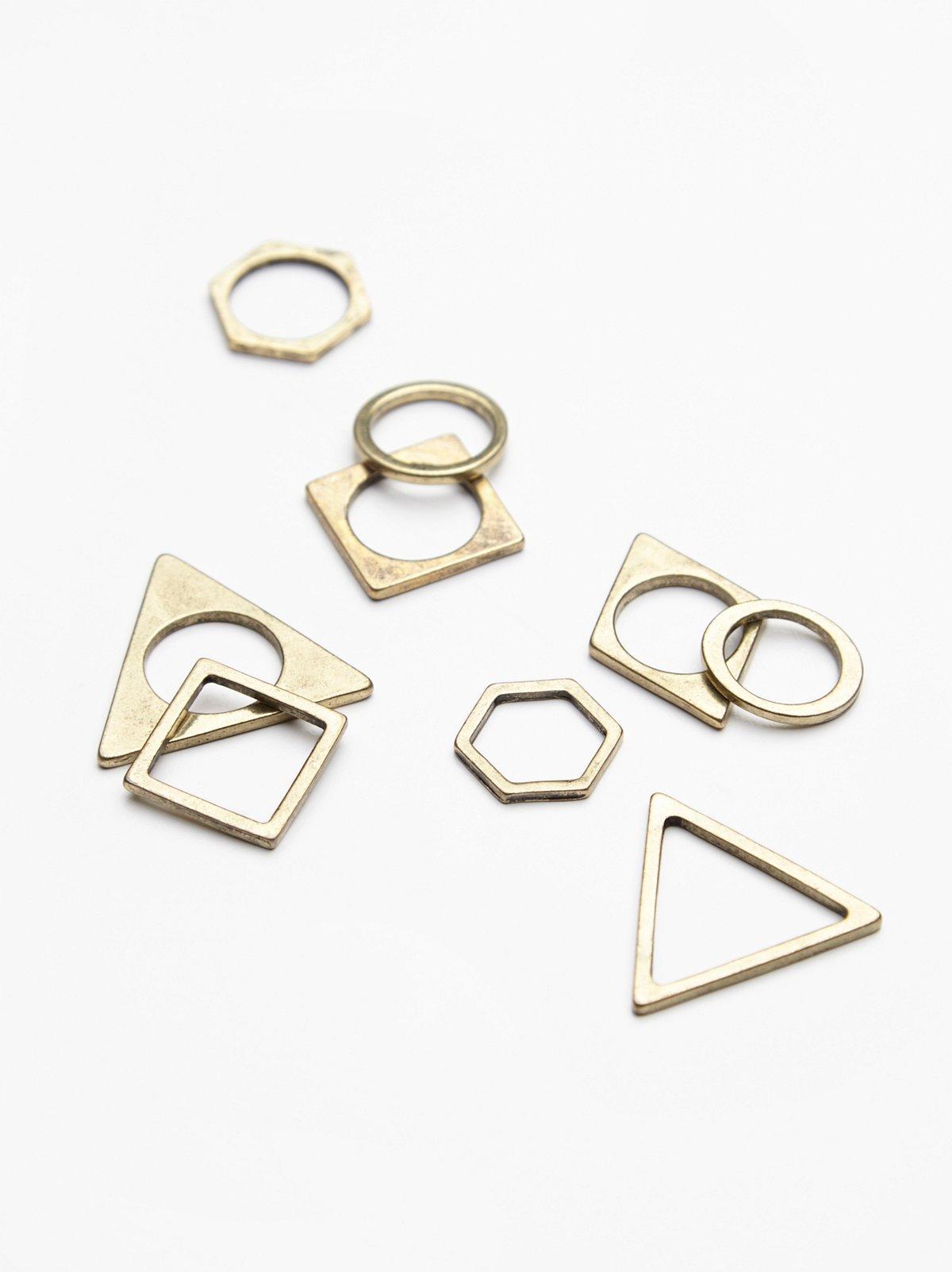 二维造型层叠戒指