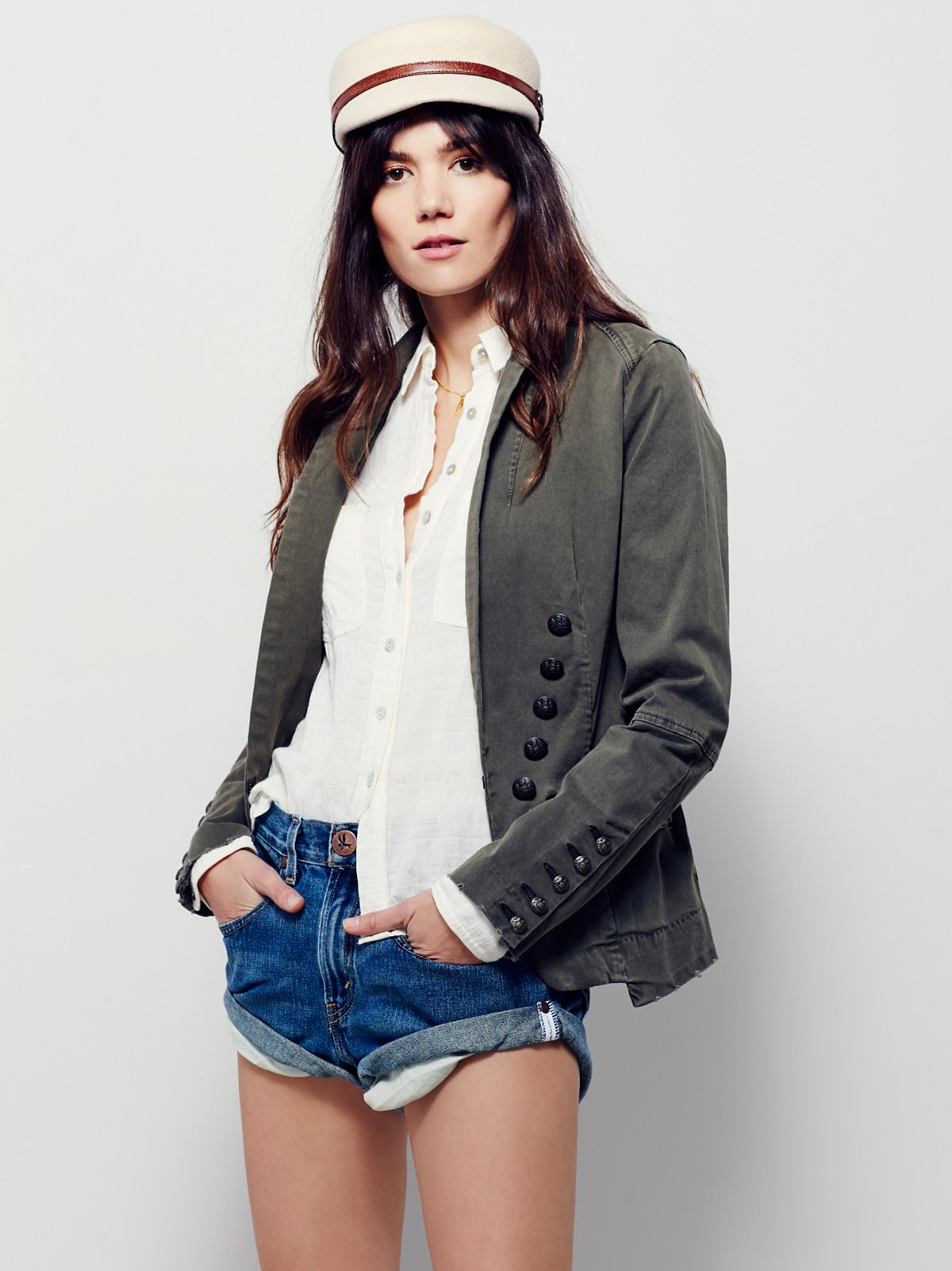 Structured Washed Blazer