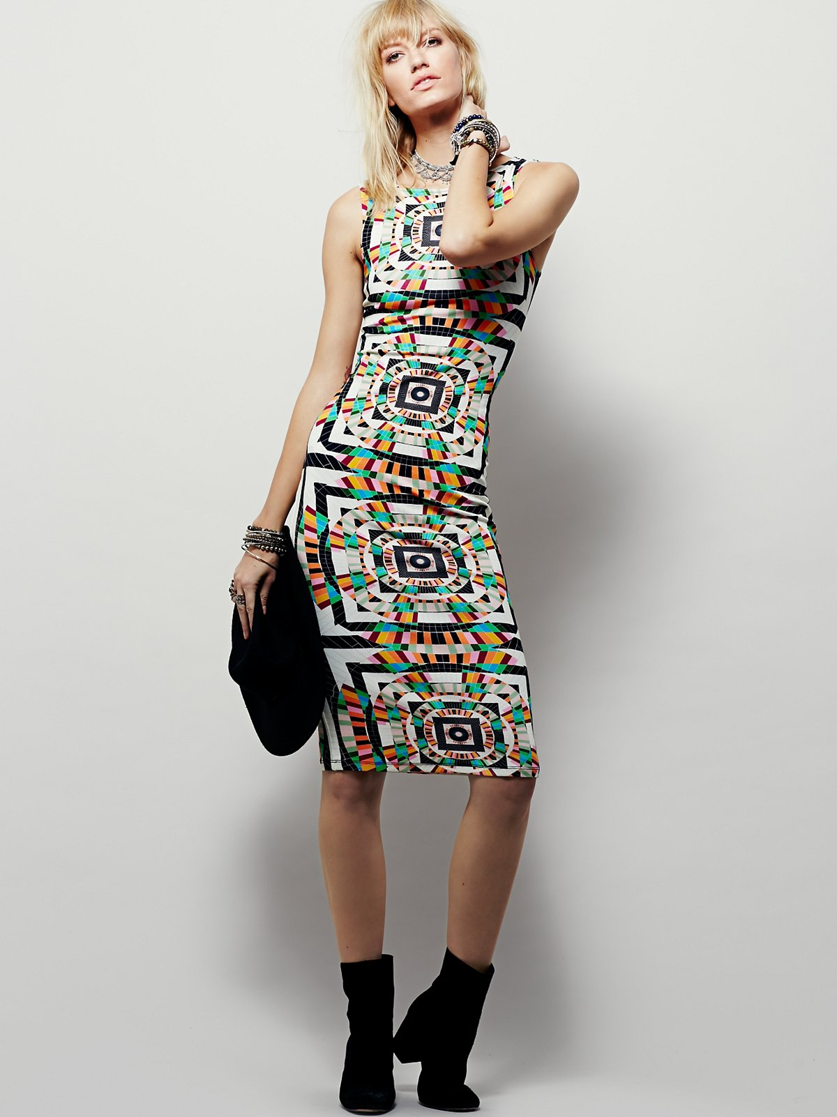 Geo Printed Midi Dress