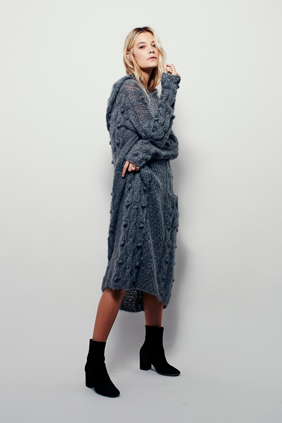 Cable Maxi Hoodie