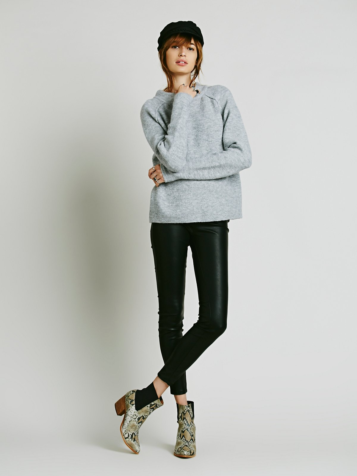 Vegan Leather Pull-On Legging