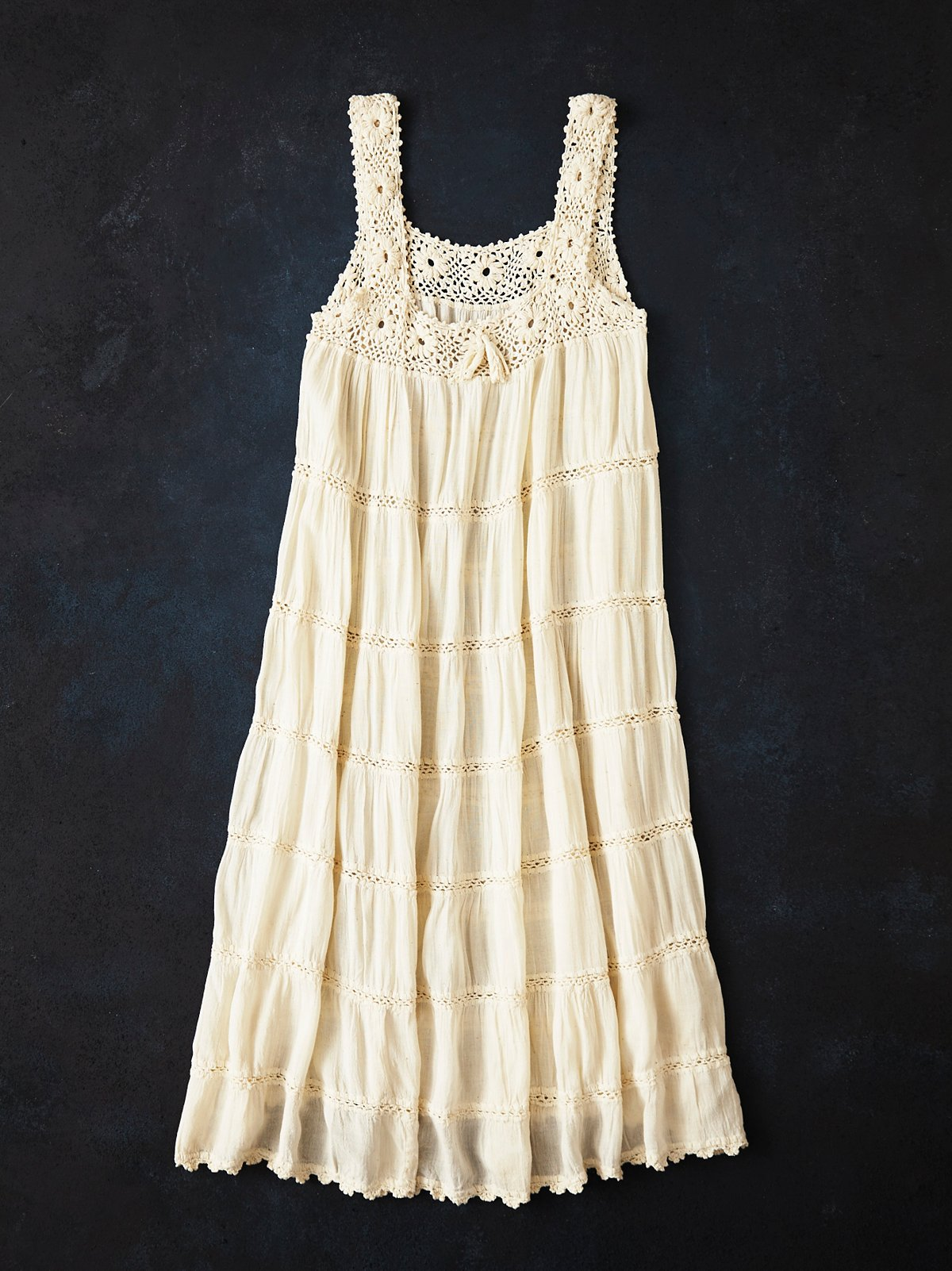 Vintage 1980s Crochet Dress