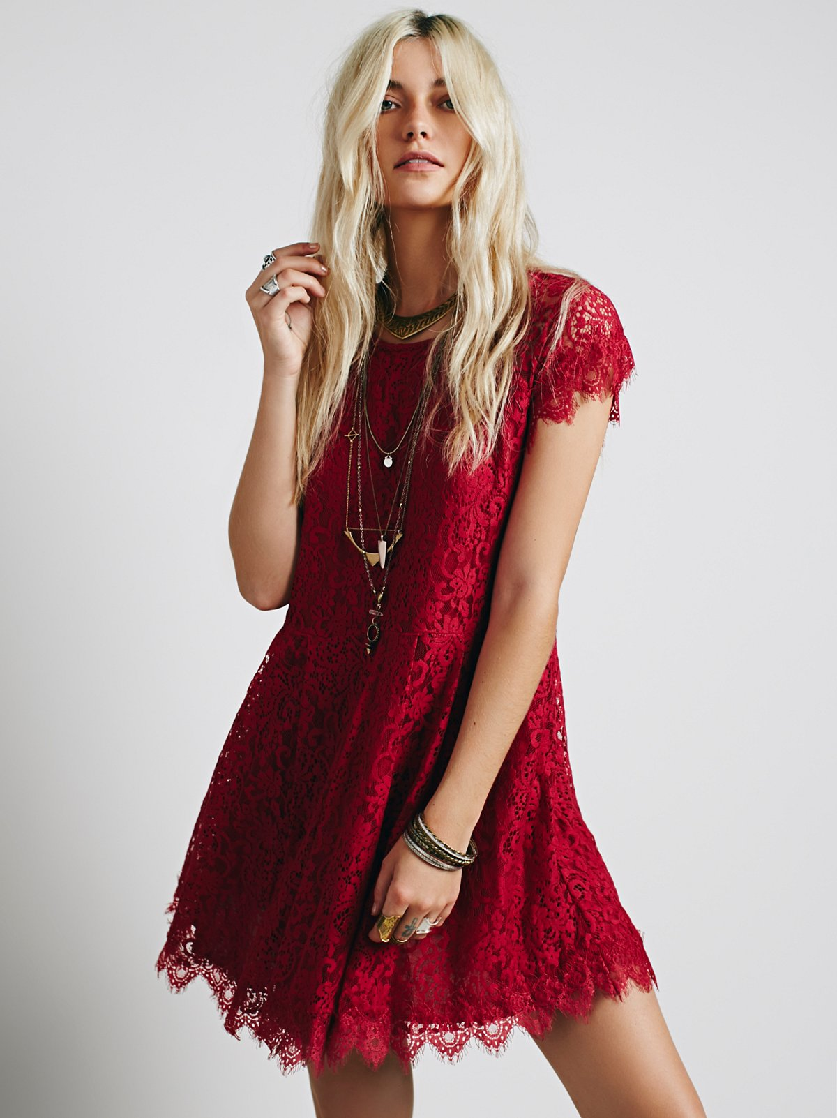 Stardust Lace Mini Dress