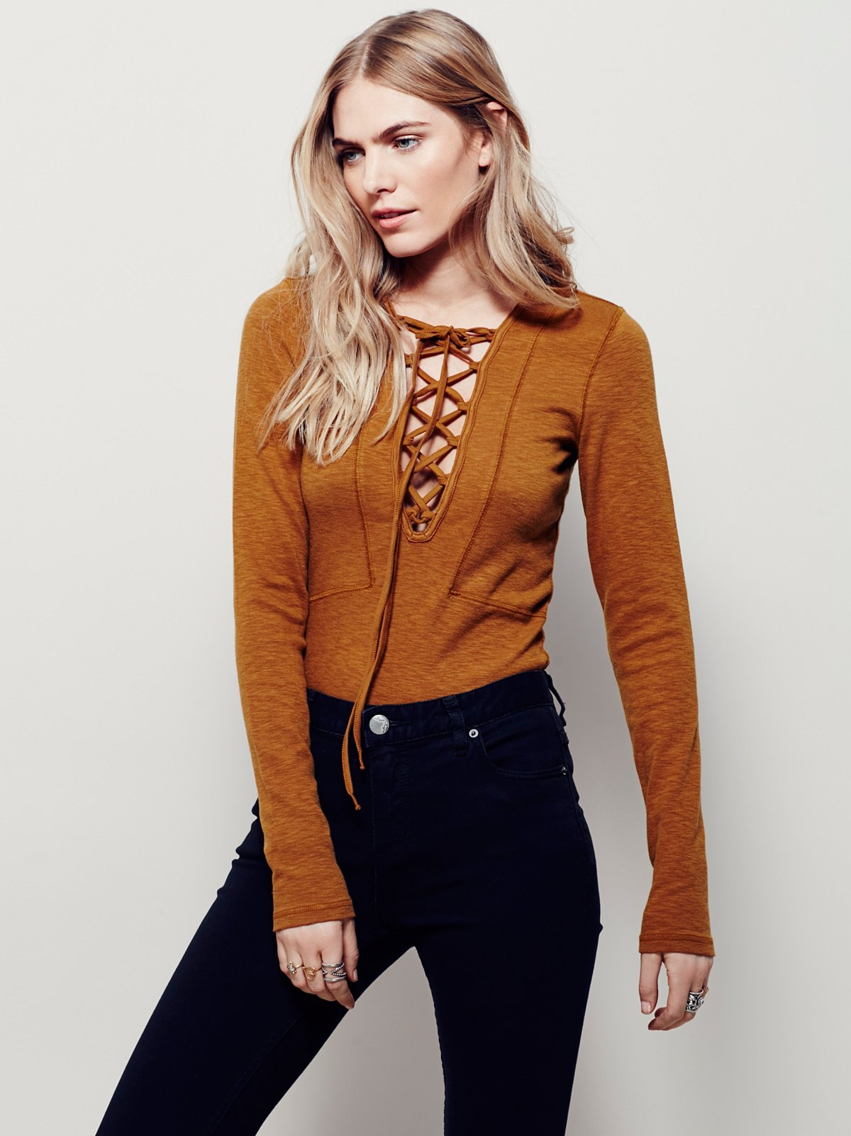 Lucky Lace Up Top