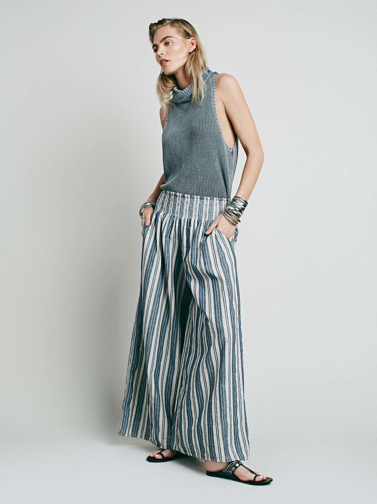 Krissy Smocked Washed Pant