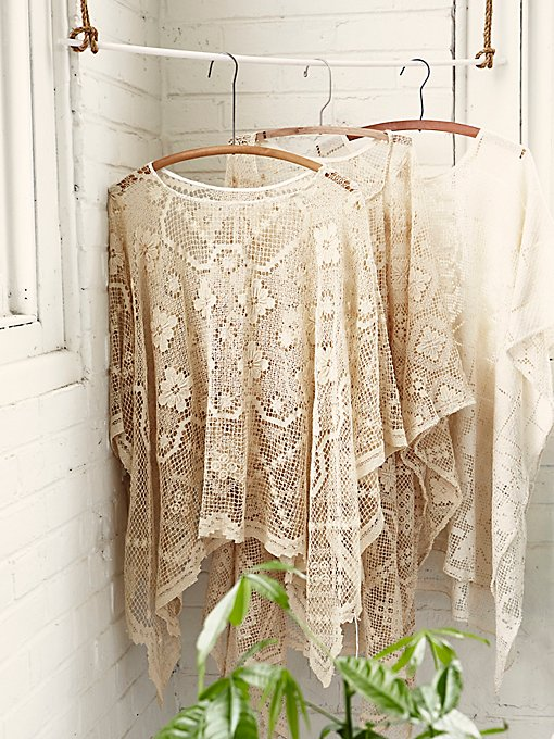 Product Image: FP Vintage Revival Geo Lace Poncho