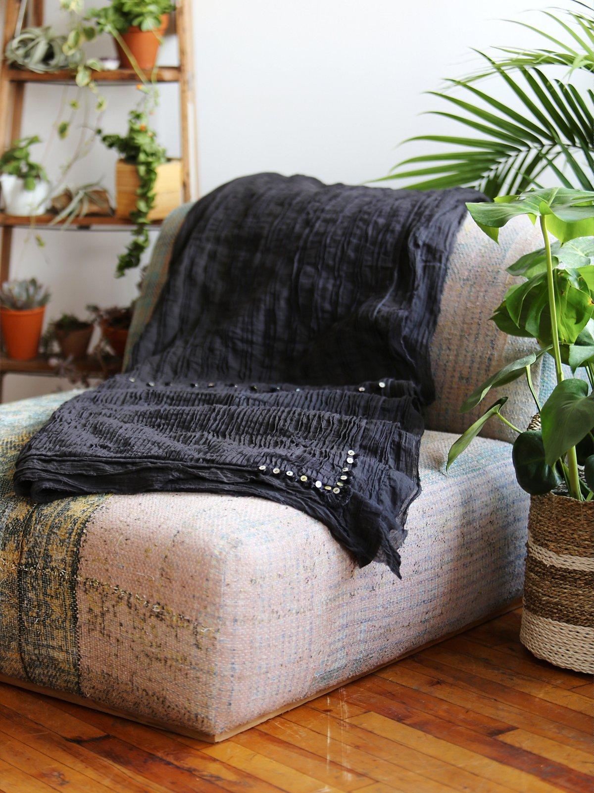 Charcoal Pintuck Quilt