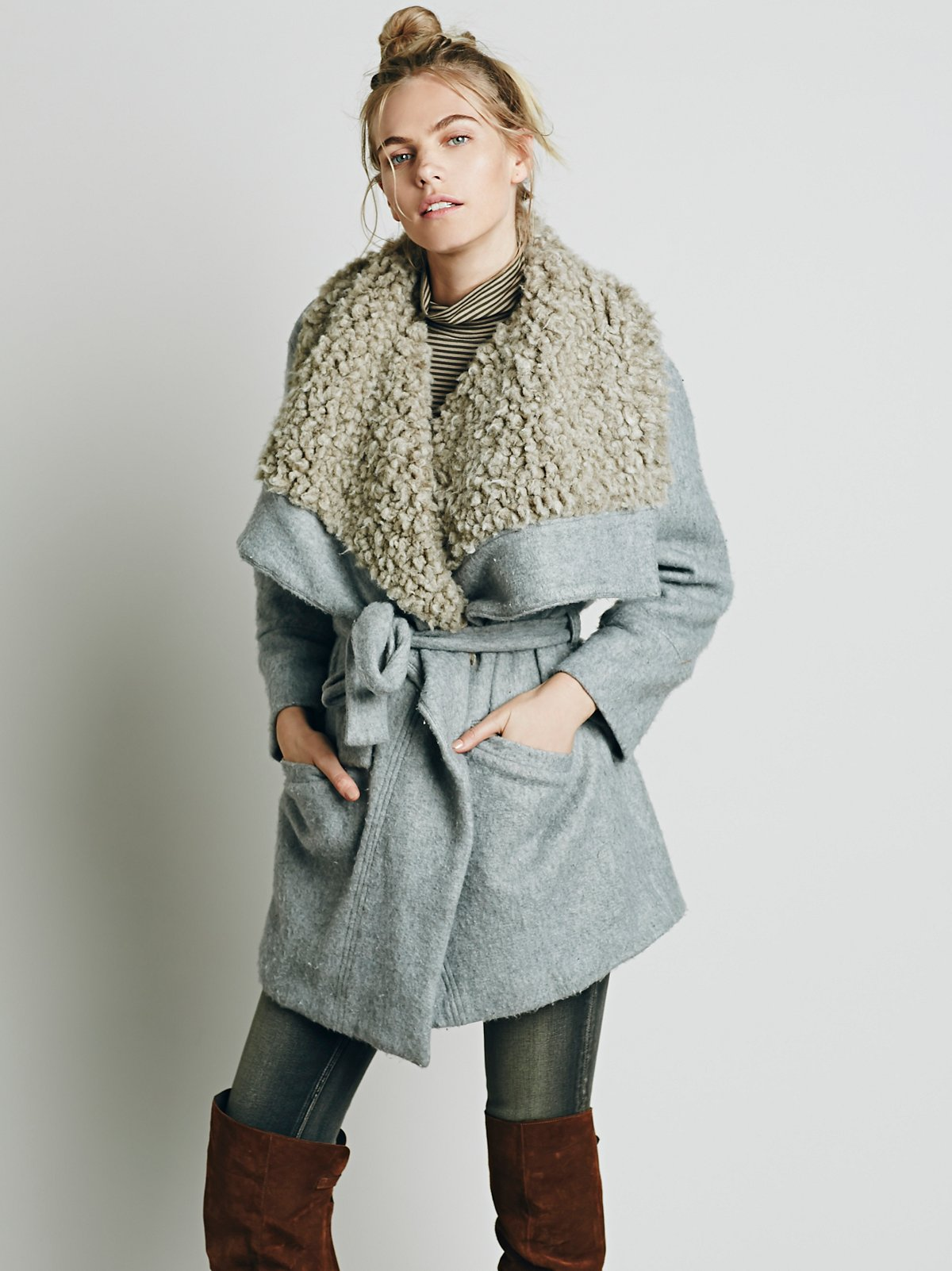 Cozy Belted Wrap Coat