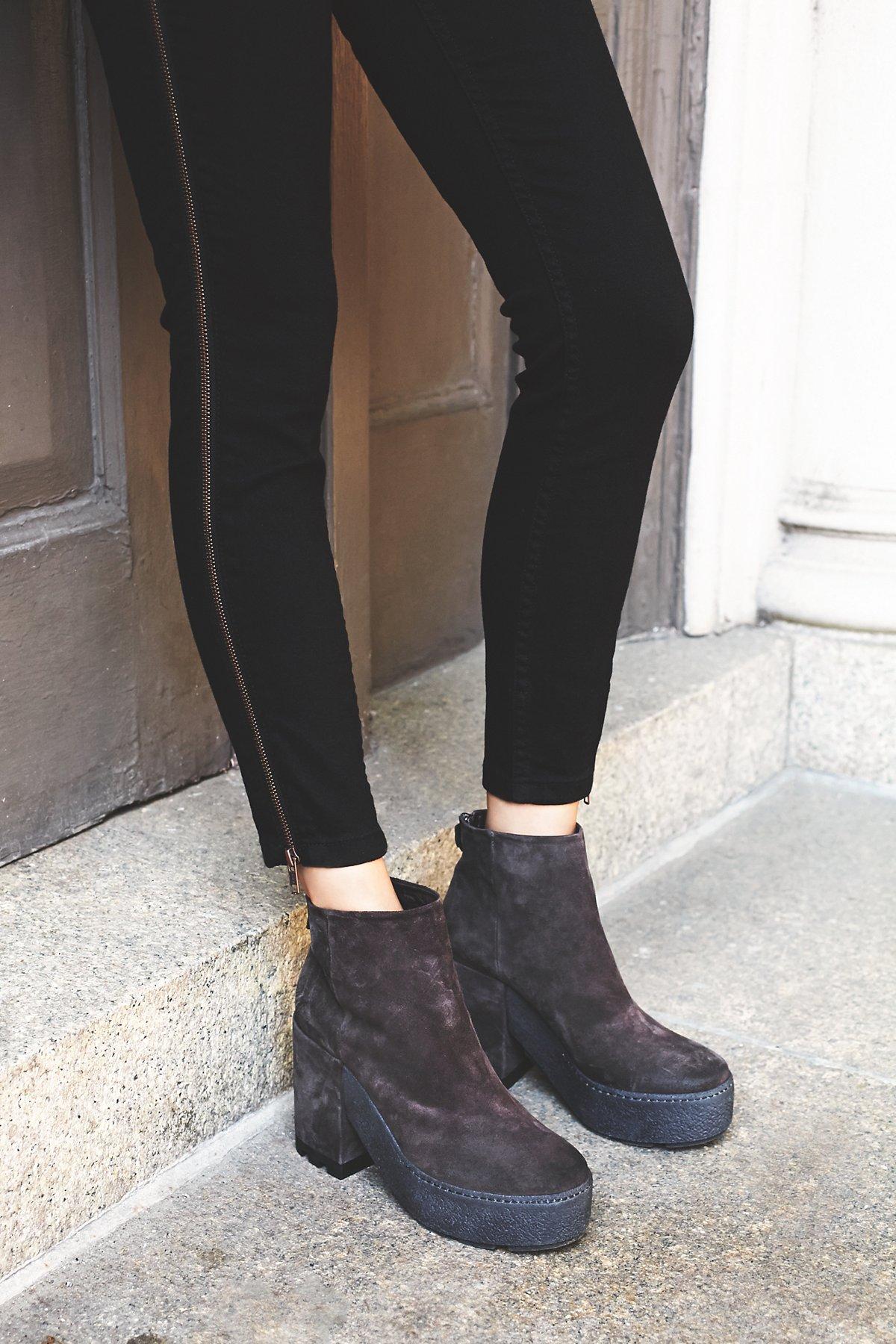 Lennox厚底踝靴