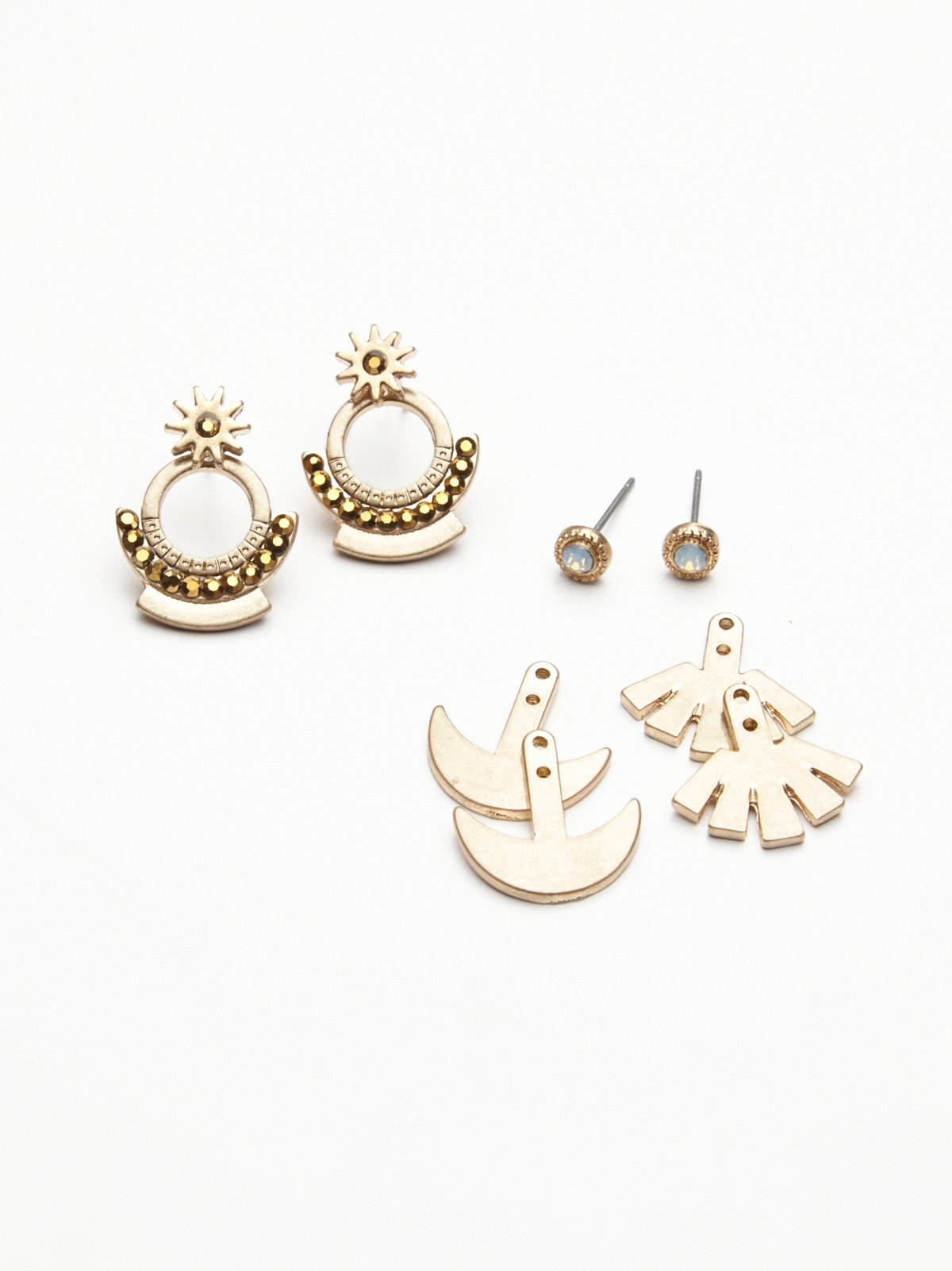 Ear Jacket Earring Set