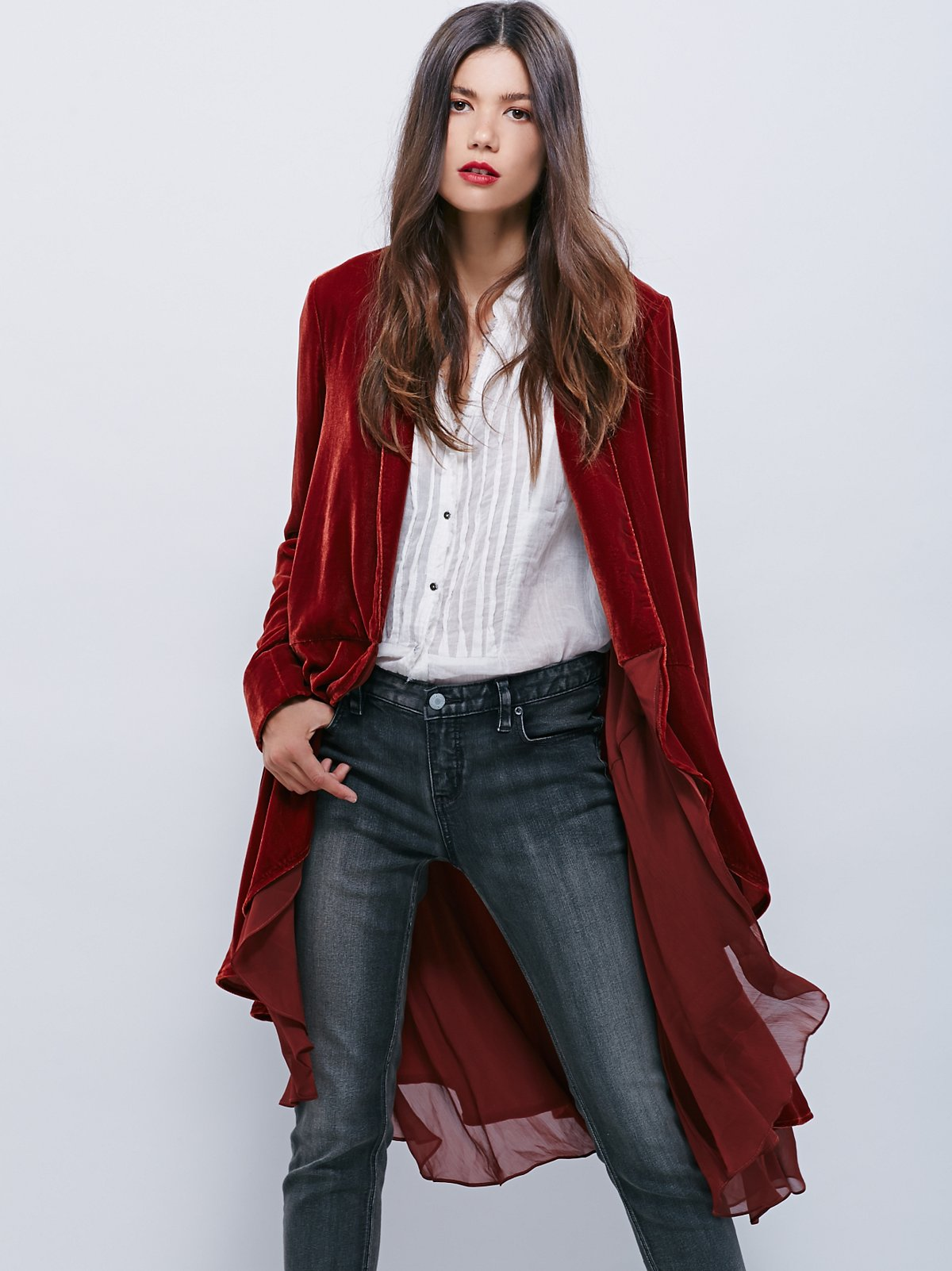 Swingy Velvet Jacket