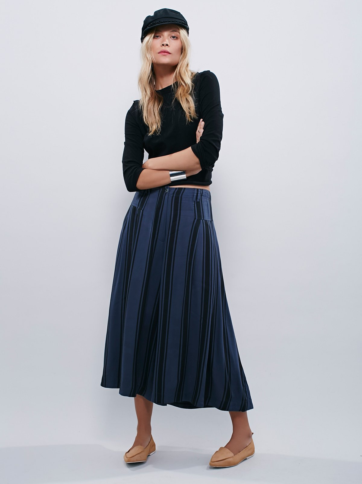 So Good条纹裙裤