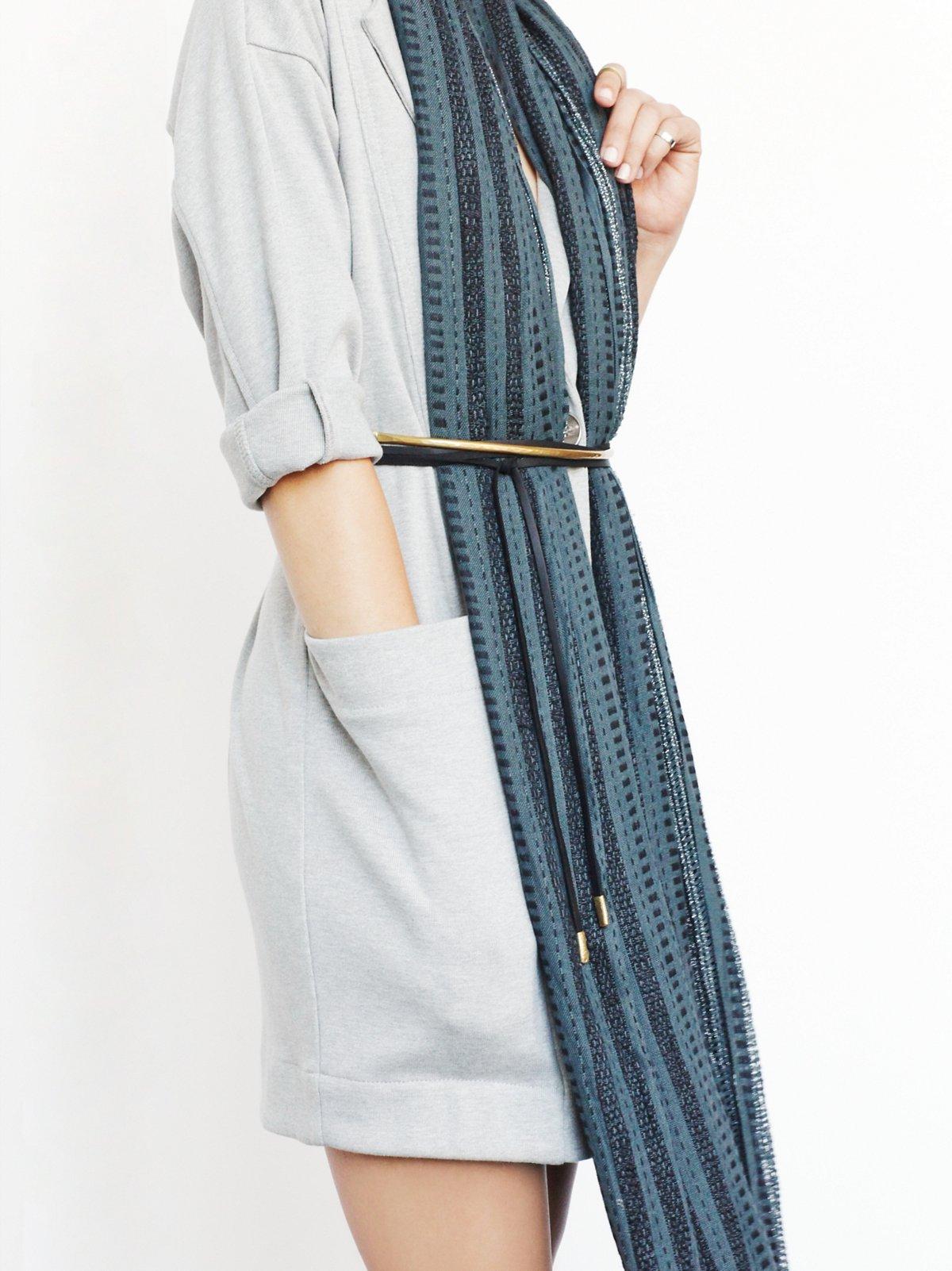 Flawed Leather Wrap Belt