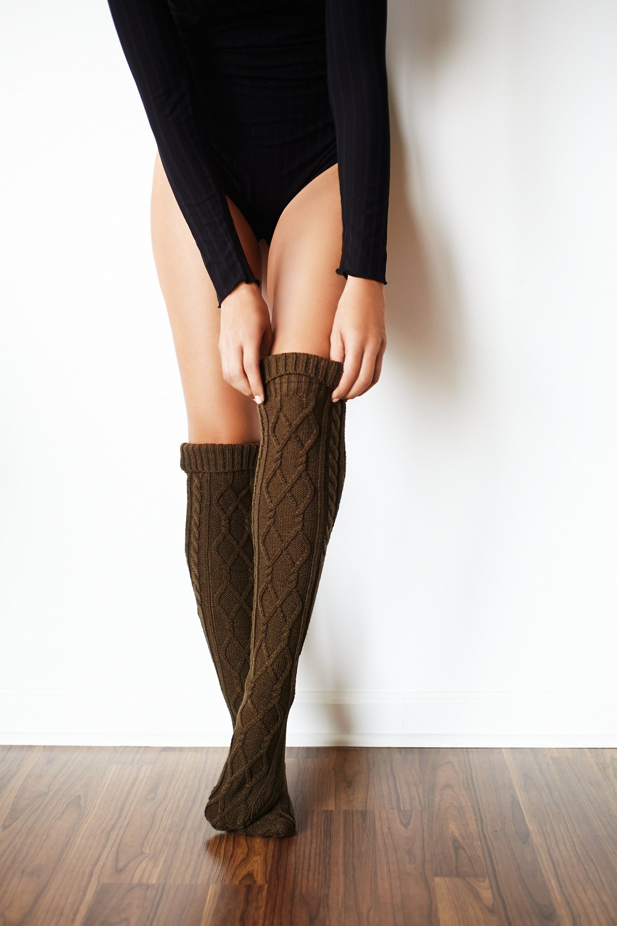 Capsule Cable Over-the-Knee Sock