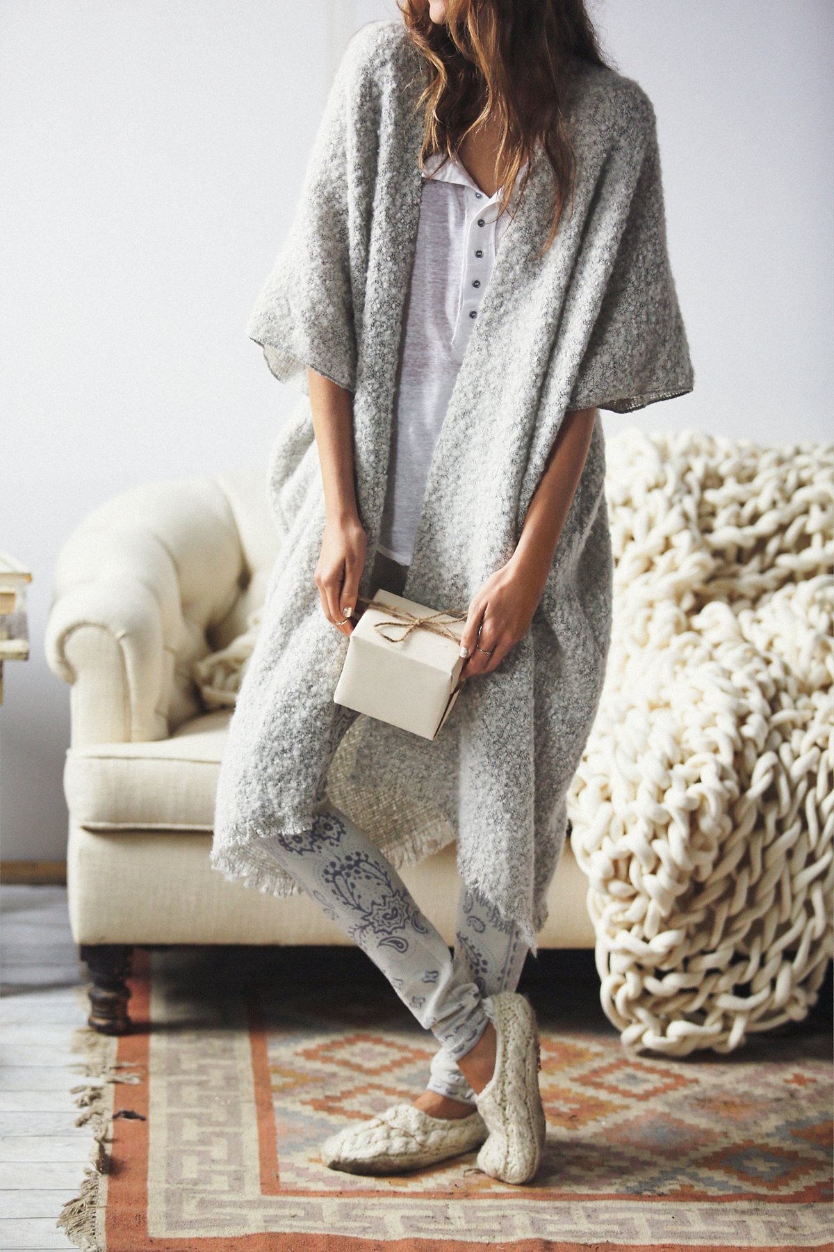 Weekend毛圈花式线和服式上衣