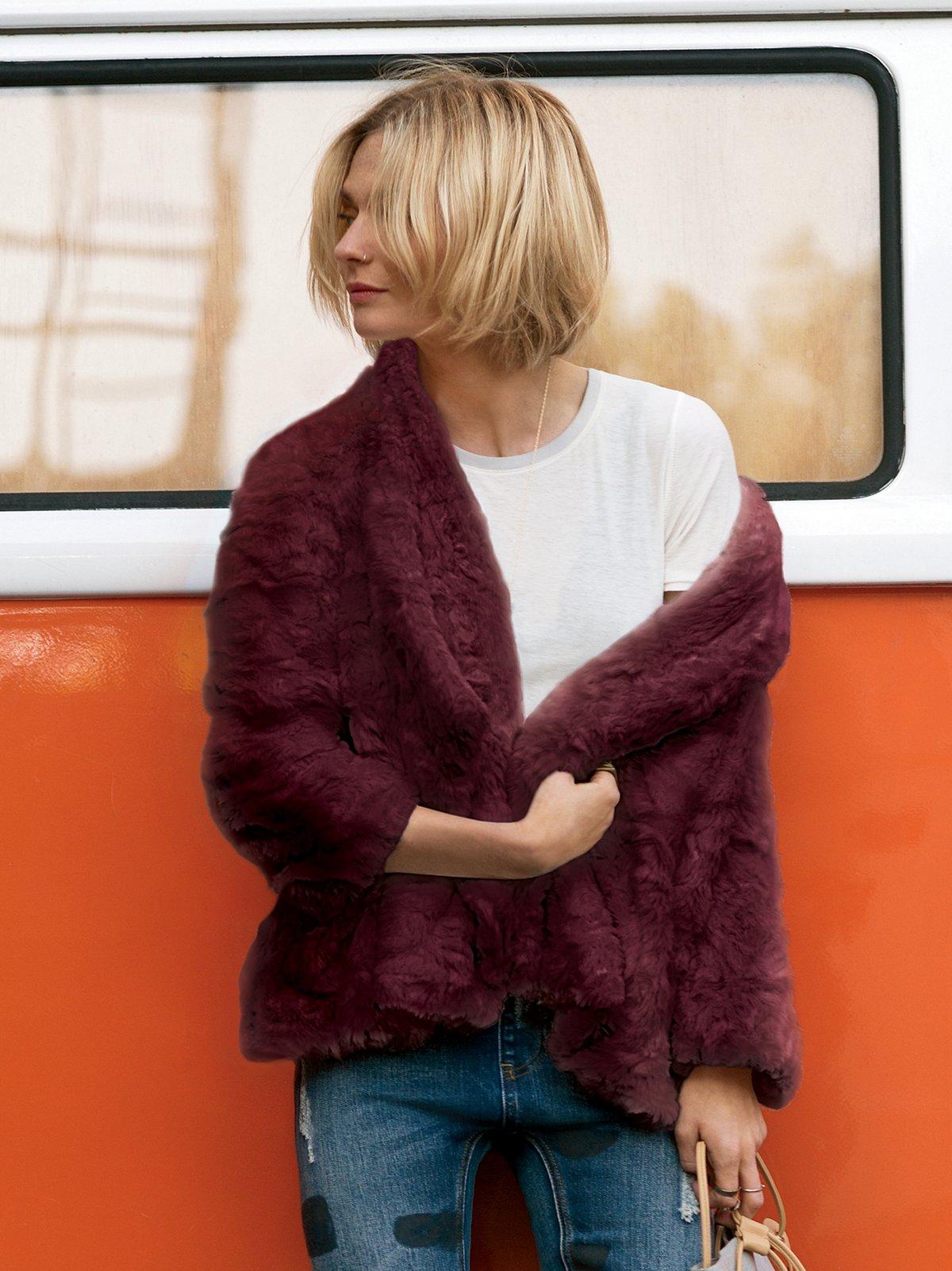 Swingy Faux Fur Coat