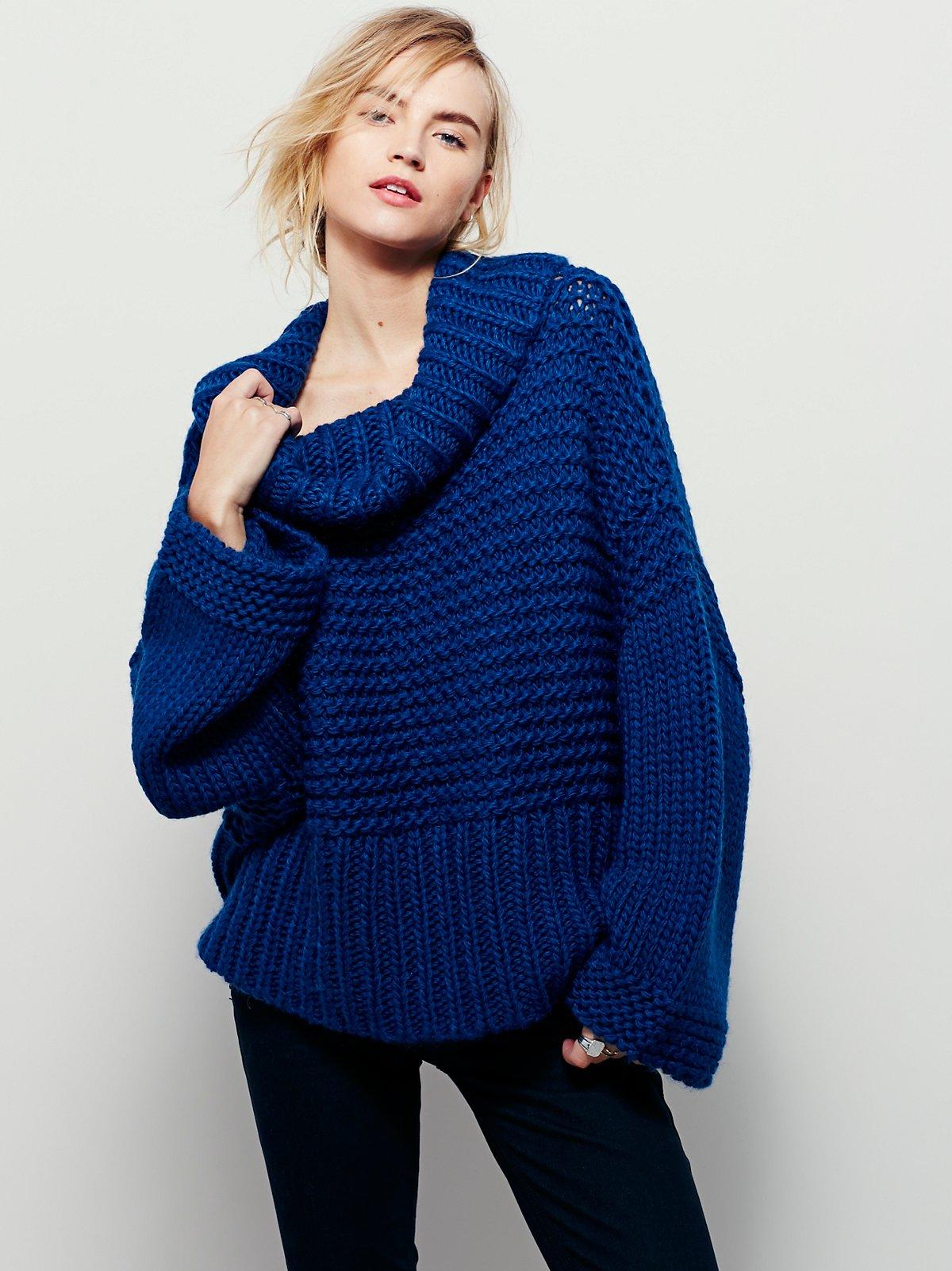 Split Turtleneck Pullover