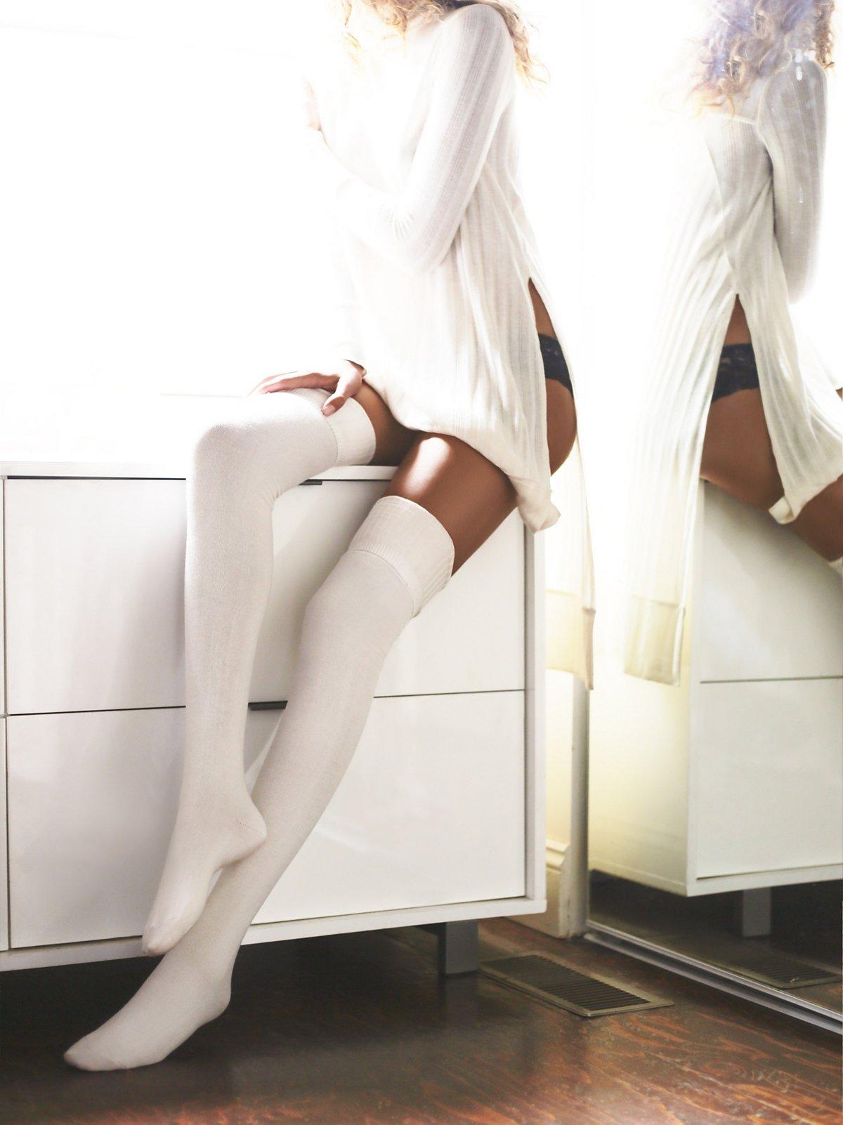 Silver Lake Thigh High Sock