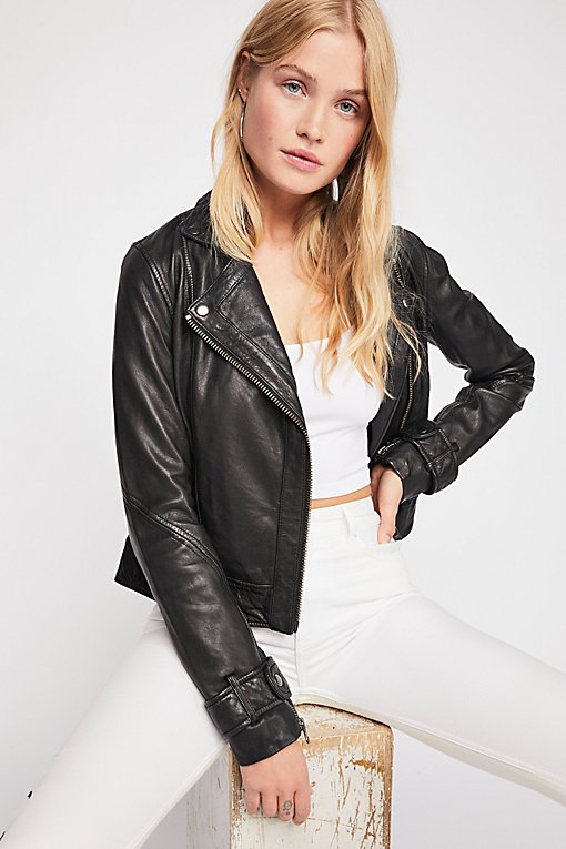 Product Image: Washed Leather Moto Jacket