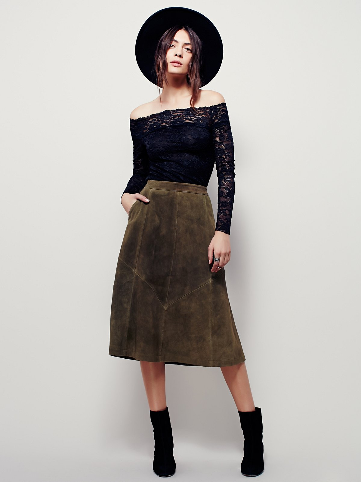 Geometry Lesson Suede Skirt