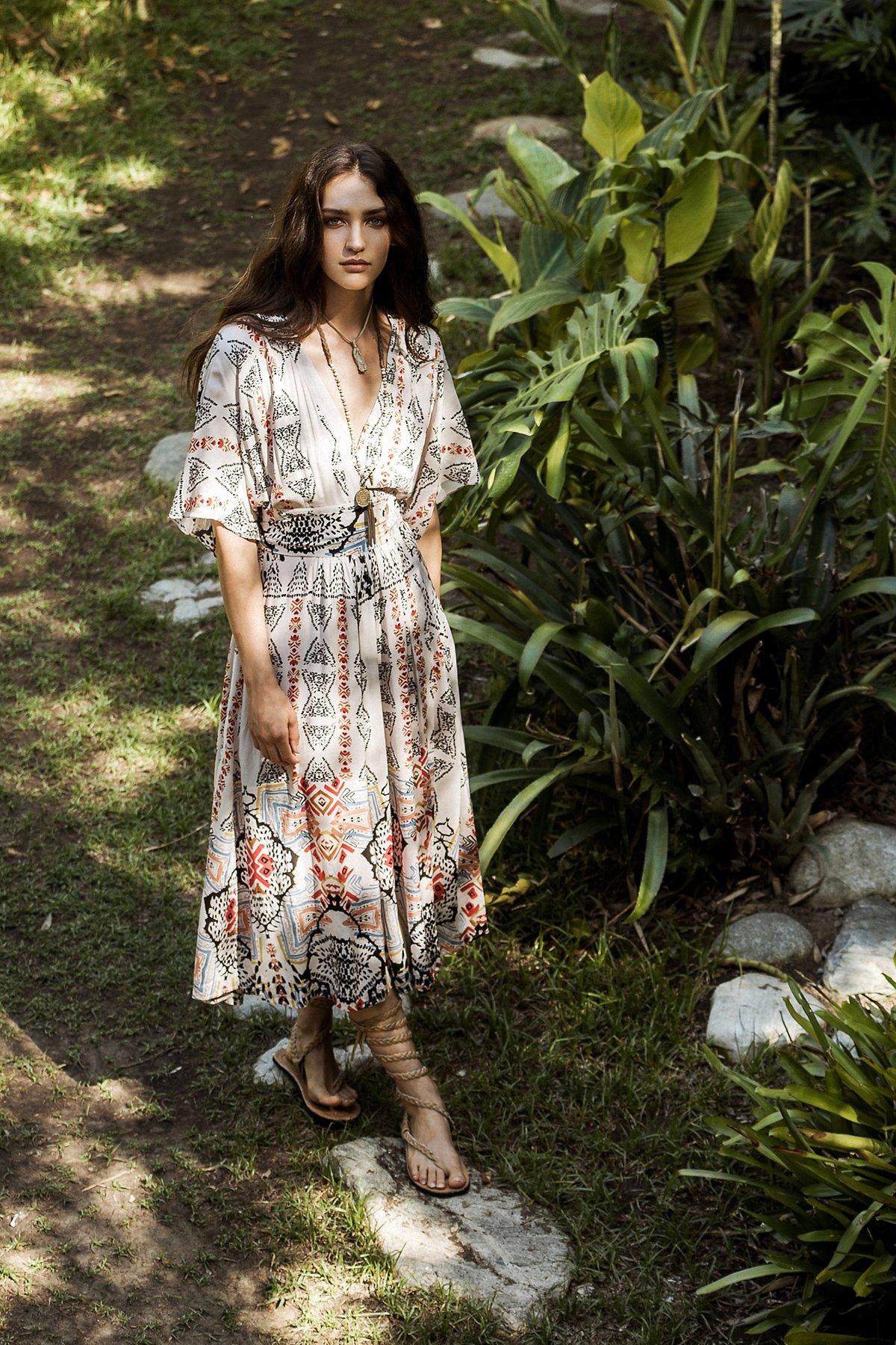 Wild Mountain Kimono Dress