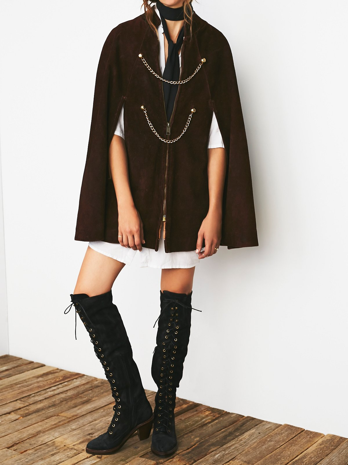 Vintage Roughout Suede Poncho
