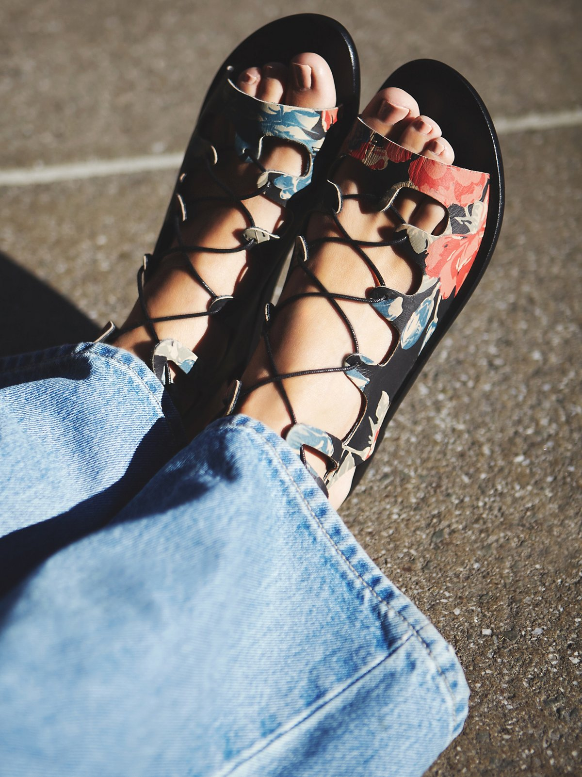 Spring It On Lace Up Sandal