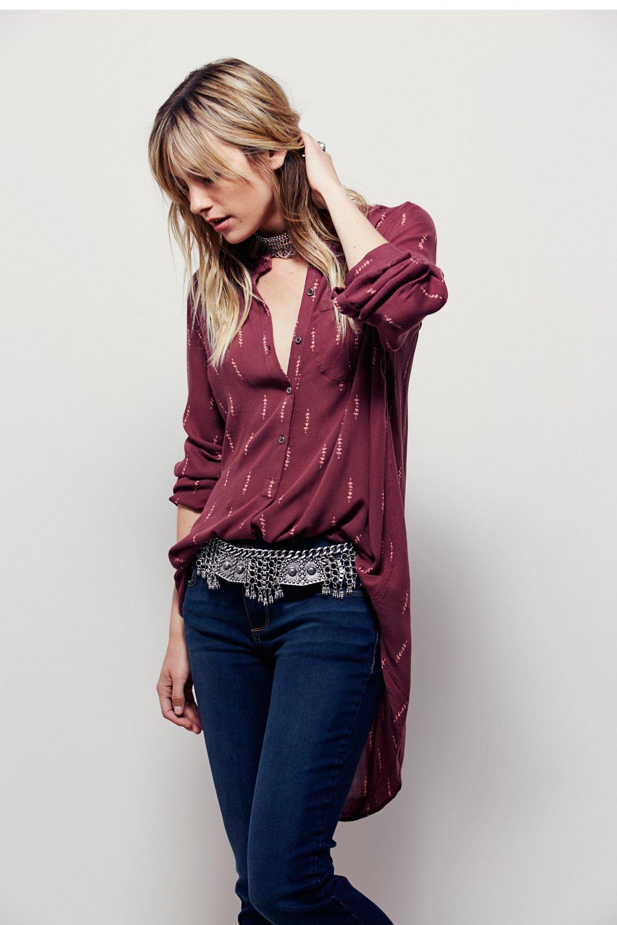 Shibori Magic印花系扣衬衫