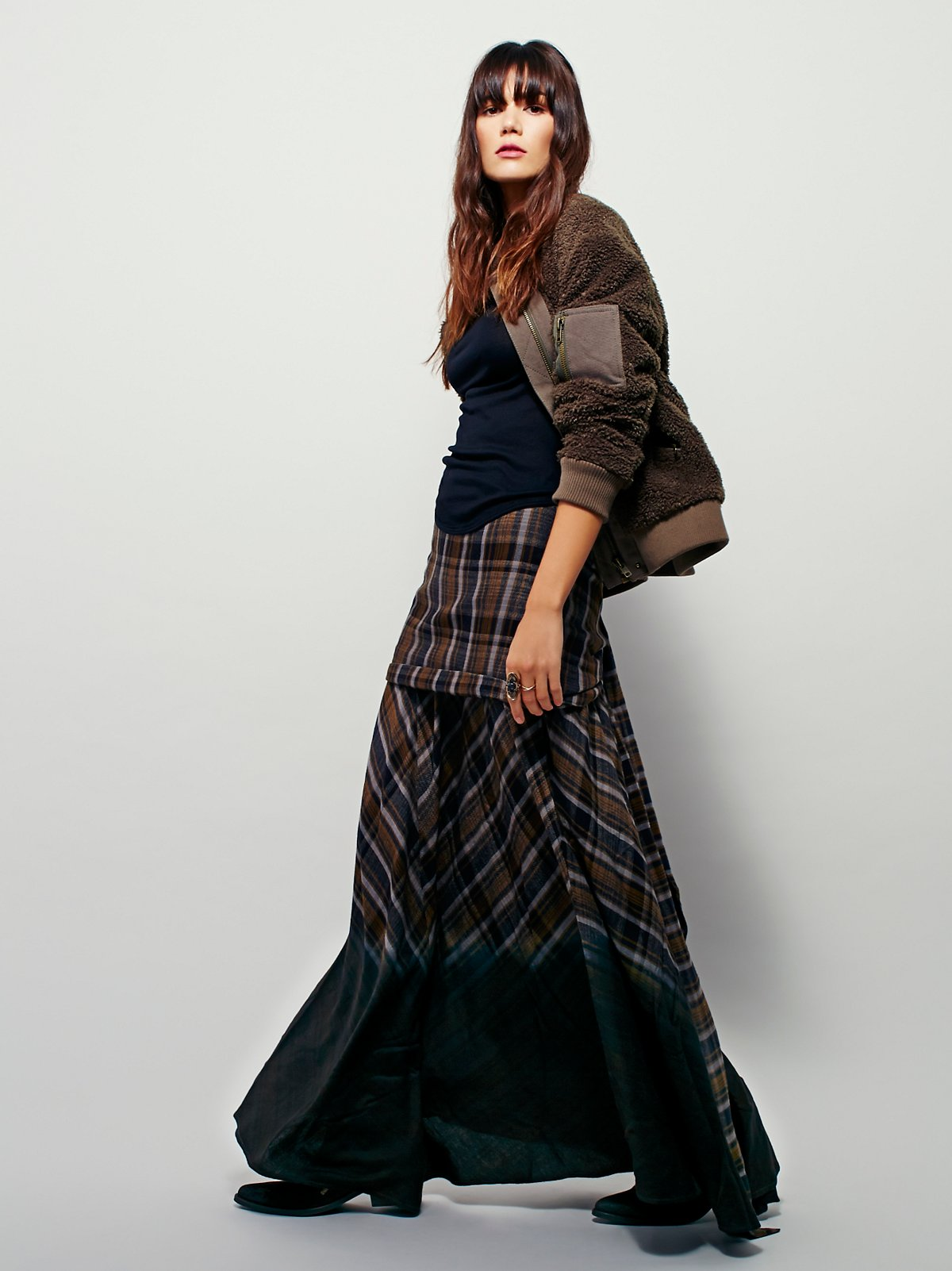 Girlgang Plaid Maxi Skirt
