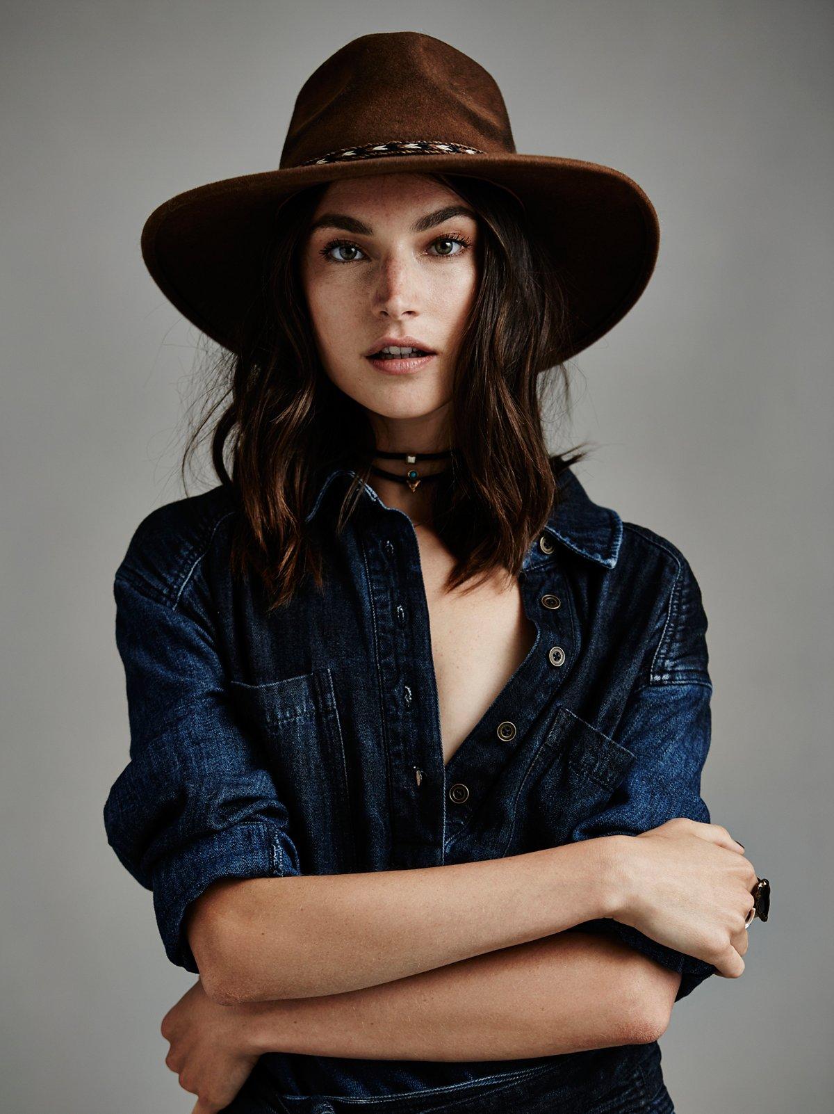 Roxy Dene做旧毡帽