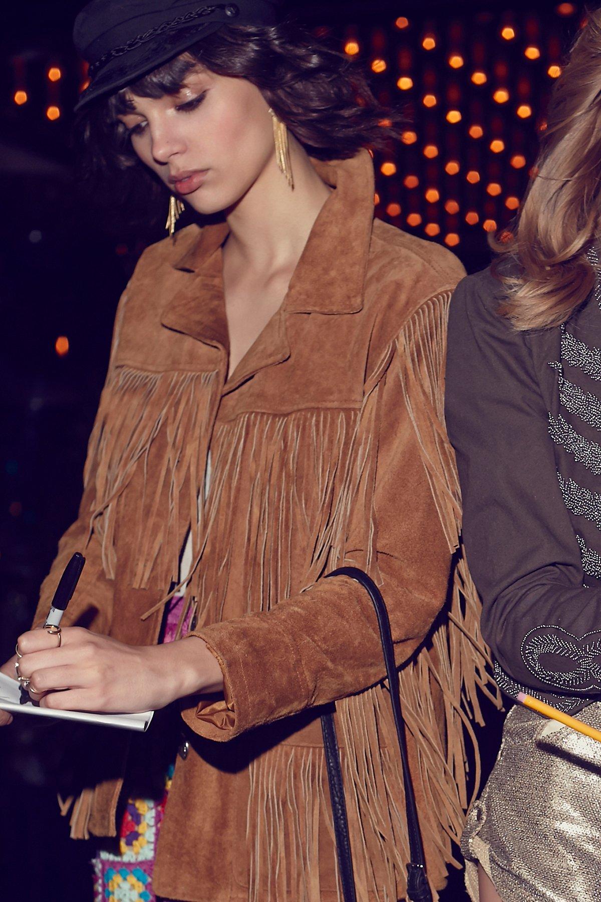 Western Tan Fringe Jacket