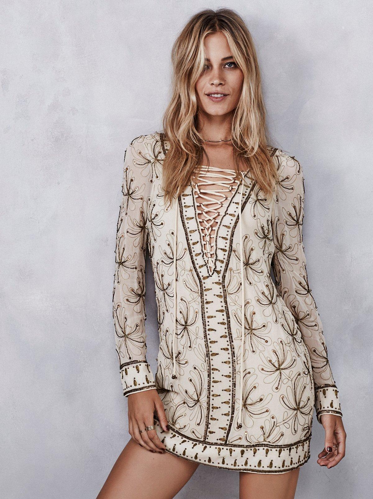 Sicily珠饰迷你裙