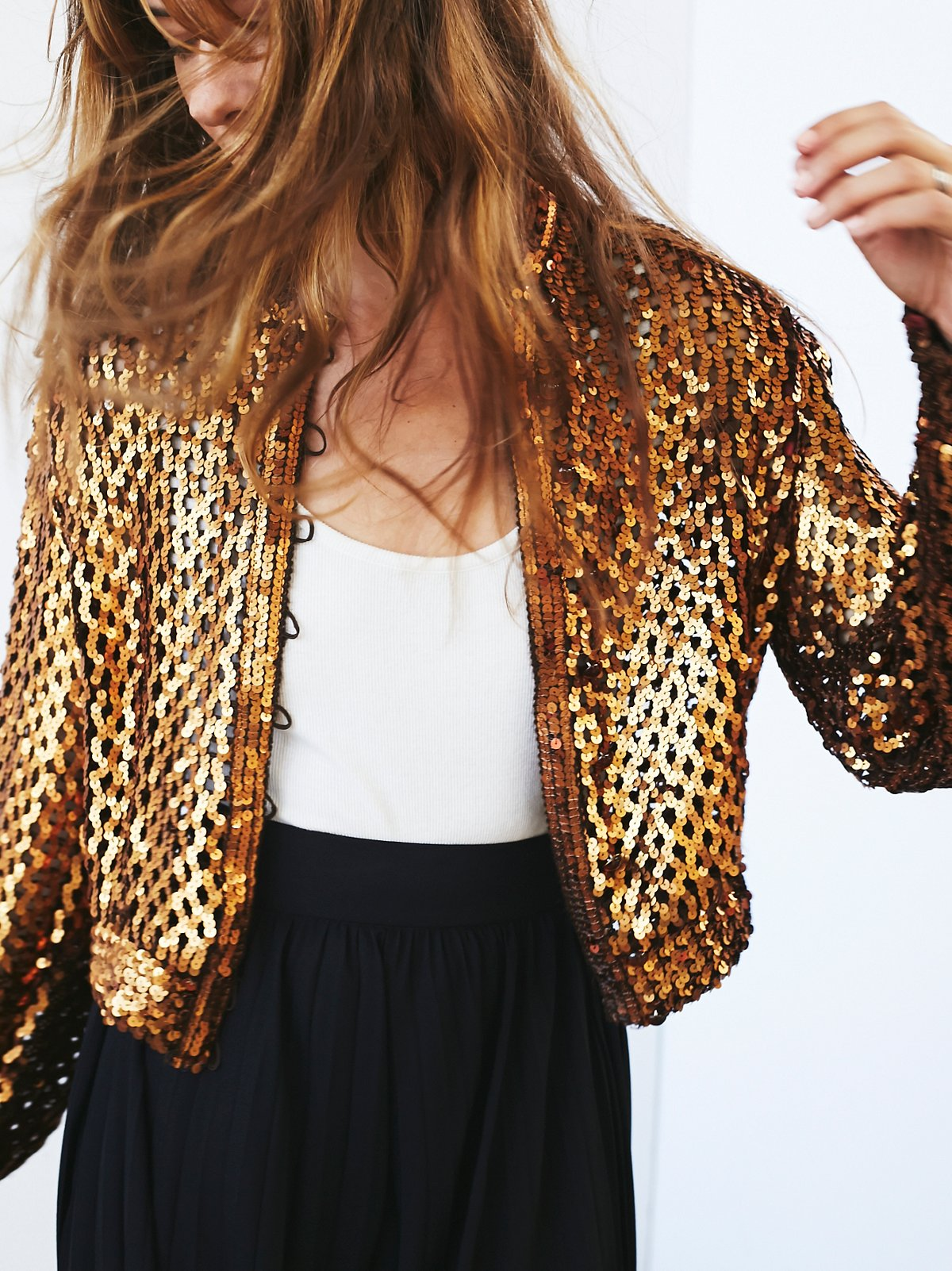 Vintage 1970s Sequin Jacket