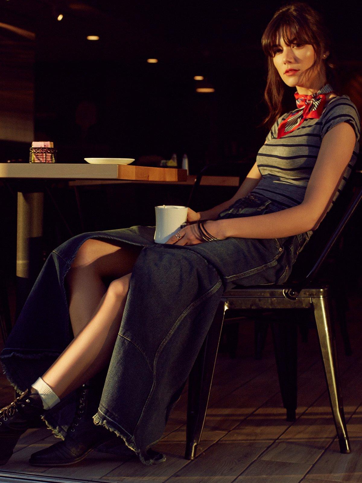 Leann Patchwork Maxi Skirt