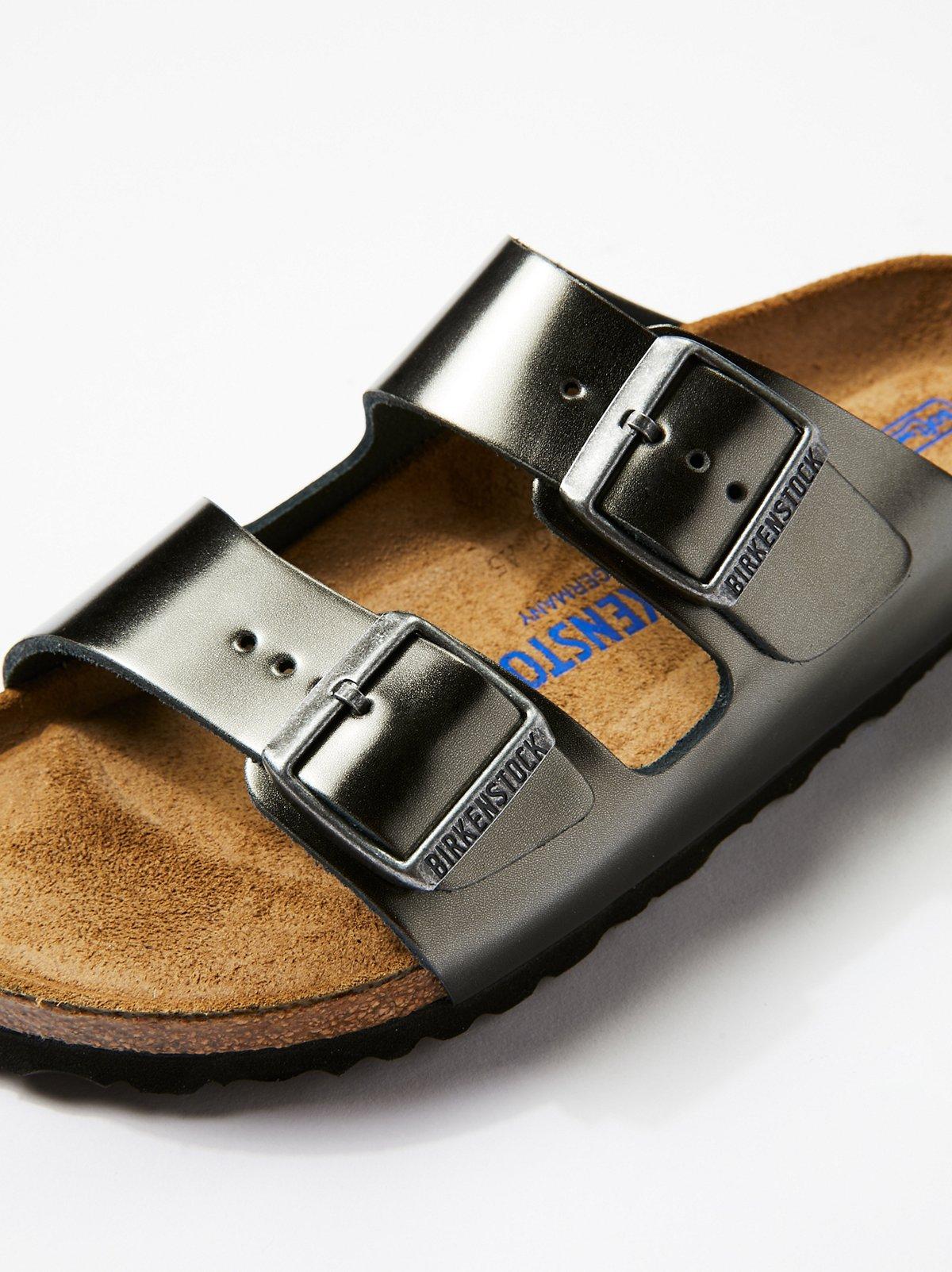 Arizona金属光泽勃肯鞋