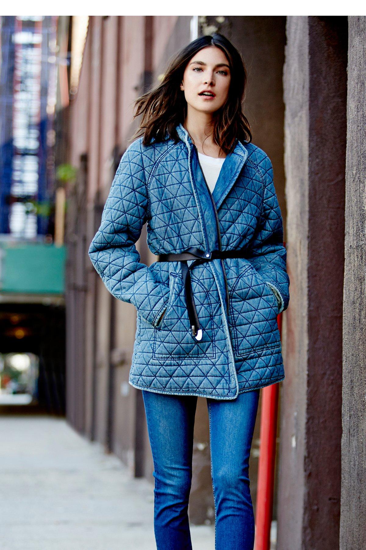 Chambray绗缝夹克