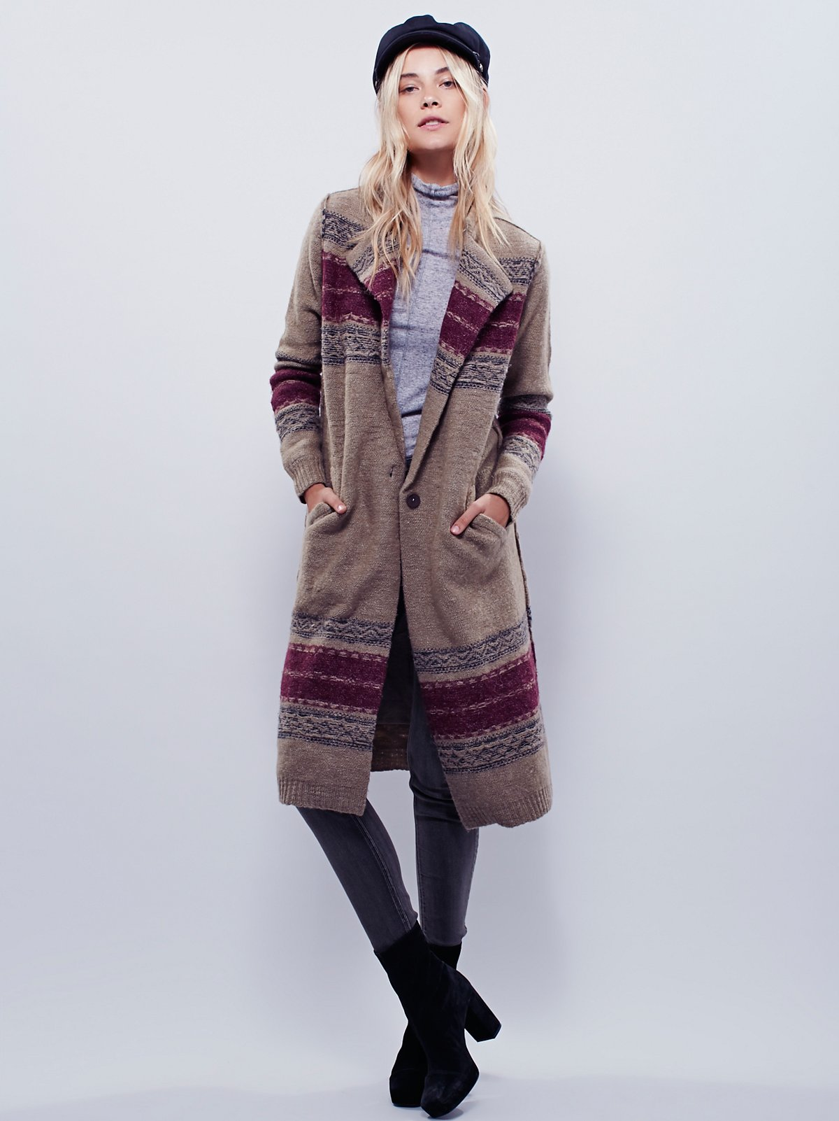 Boiled Wool Border Jacket