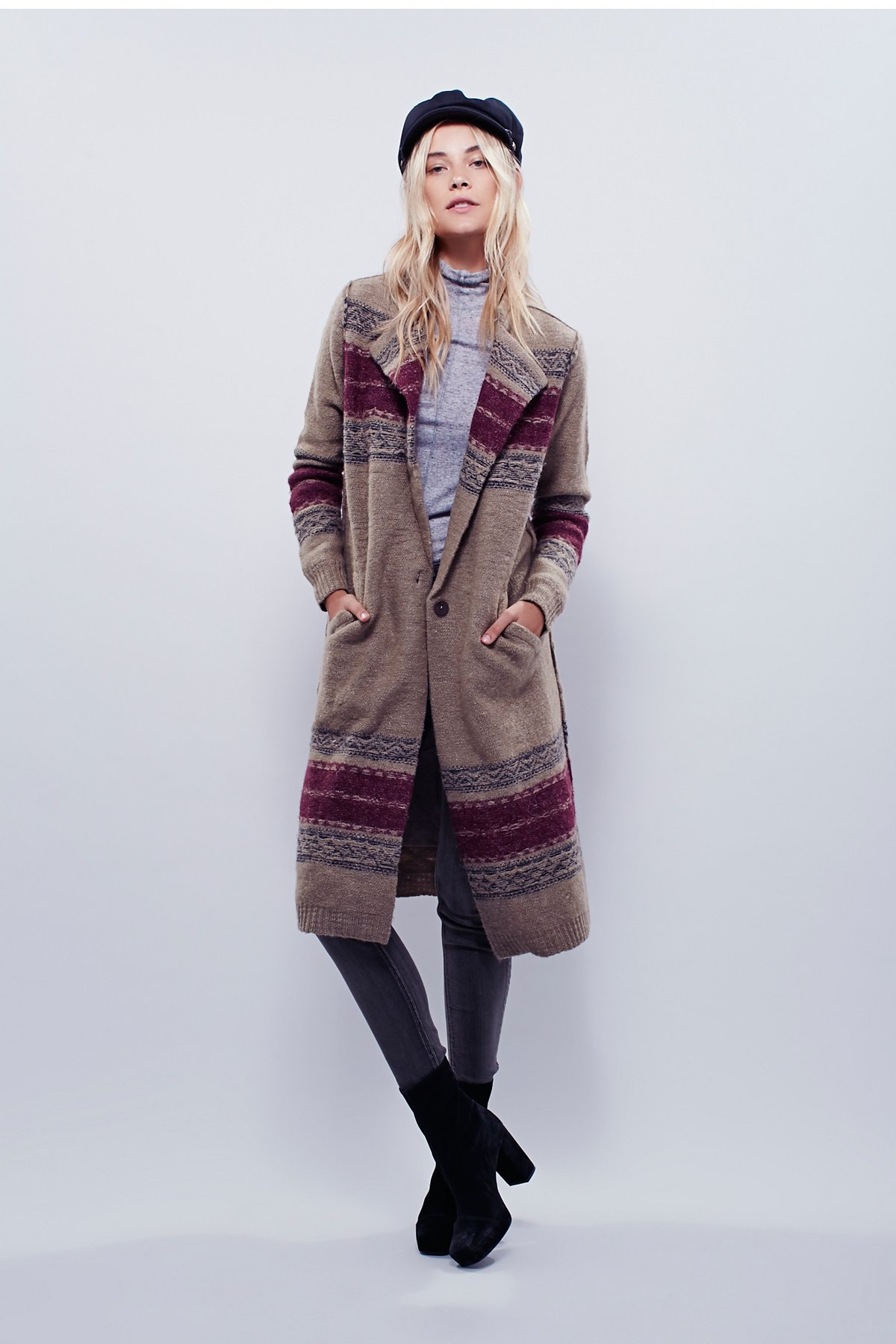 Boiled Wool Border Jacket