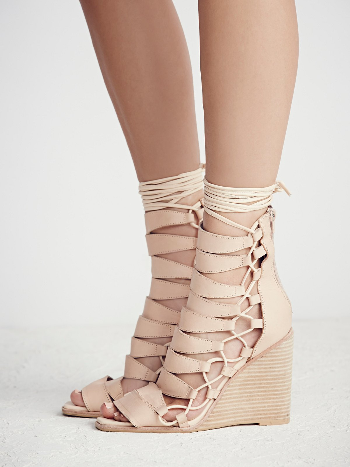 Fooled You Lace Up Wedge
