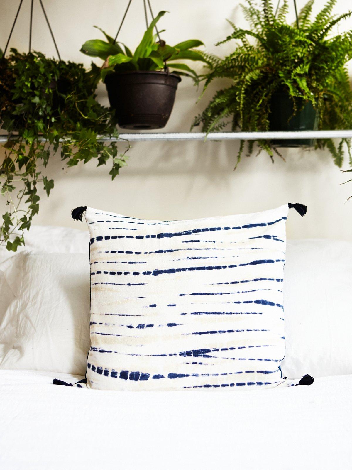 靛蓝染色枕头