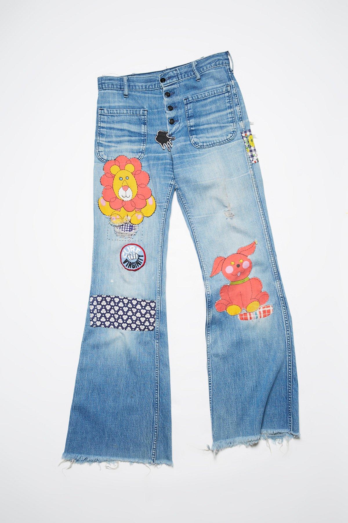 Vintage 1960s Denim Sailor Pants